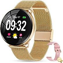 Smartwatch GOKOO Volle Touchscreen Damen Frauen Fitness Tracker Sportuhr IP67 Wasserdicht..