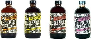 Hany's All NaturalApple Cider Vinegar Tonic Assortment Pack 8 oz Original Nectar Wilder Beetroot