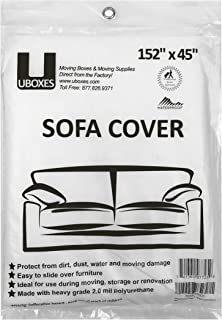 Uboxes Sofa Protective Poly Covers, 152 x 45 in, 2 Pack