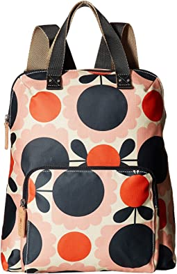Matt Laminated Scallop Flower Spot Backpack Tote