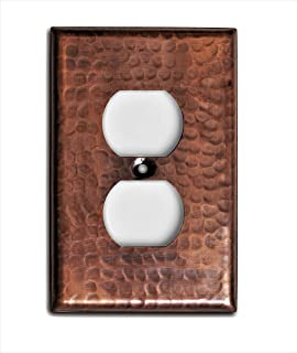 Monarch Pure Copper Hammered Duplex Wall Plate / Switch Plate