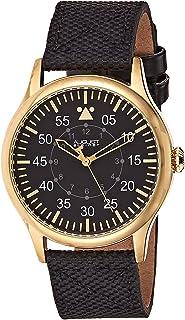 ساعة يد بقرص أسود وسوار ستانلس ستيل للرجال من اوغست شتاينر - ايه اس 8125 واي جي