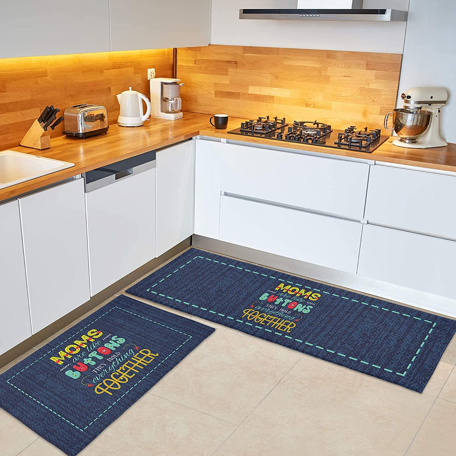 BABE MAPS Mother's Day Save money 2-Piece Ma Ranking TOP16 Rugs Non-Slip Kitchen