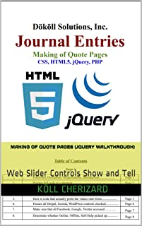 Making of Quote Pages (jQuery WalkThrough): Web Slider Controls Show and Tell