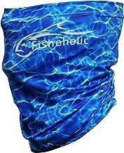 Fishoholic Neck Gaiter UPF50+ Fishing Face Mask Wind Dust Sun Protection Bandana Shield Headwear Scarf for Men Women Hunting Cycling Run Fish Paddling Kayak Bass