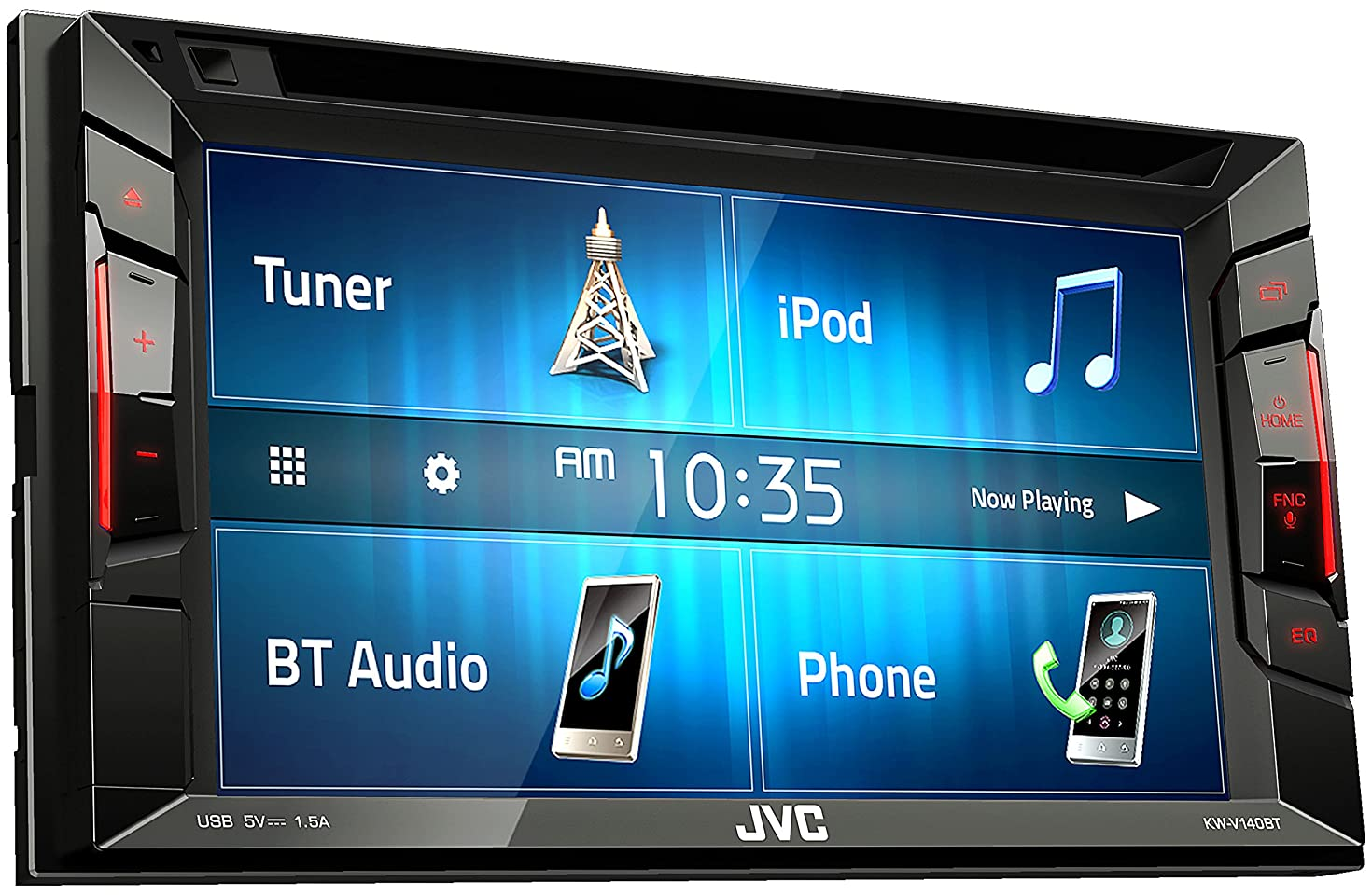 Jvc KWV140BT Double Din Bt in-Dash DVD/cd/am/fm Car Stereo W/6.2 Touchscreen (Renewed)