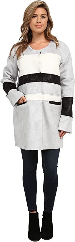 Color Block Shearling Jacket