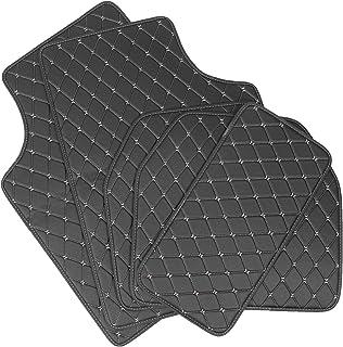 Garneck 5 peças bege tapetes resistentes à prova d'água para carro, SUV, caminhão, van, tapete de proteção para todos os c...