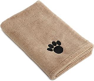 "Bone Dry 73581389999 DII Microfiber Pet Bath Towel with Embroidered Paw Print, 44x27.5"", Ultra-Absorbent & Machine Washabl..."