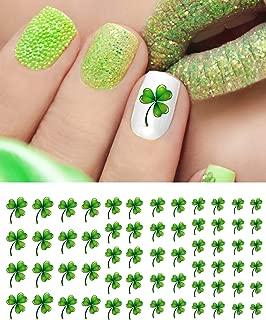 St. Patricks Day Shamrock Water Slide Nail Art Decals - Salon Quality!