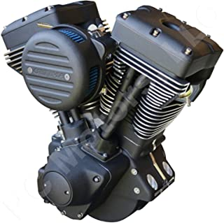 Ultima El Bruto Competition Series Evolution Style Big Bore Motorcycle Engine (Matte Black Out Finish, 127 Cubic Inches)