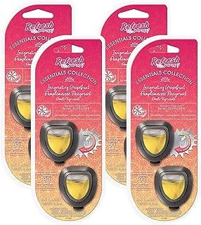 Refresh Invigorating Grapefruit Air Freshener (Mini Diffuser (4PK Total of 8 diffuser's))