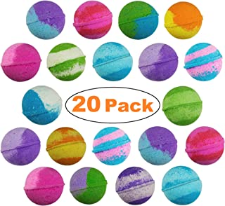 20 Pack of Best Selling Vegan Bulk Bath Bombs - Made with Organic Essential Oils Lush Spa Bath Fizzies for Moisturizing Dry Skin - Paraben & Gluten Free - Best Gift Ideas for Weddings & Showers