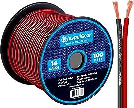InstallGear 14 Gauge AWG 100ft Speaker Wire Cable – Red/Black