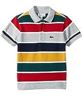 Short Sleeve Multicolor Striped Pique Polo (Infant/Toddler/Little Kids/Big Kids)