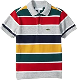 Short Sleeve Multicolor Striped Pique Polo (Infant/Toddler/Little Kids/Big Kids)