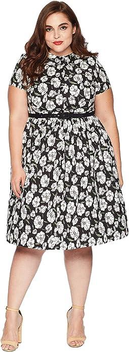 Plus Size 1960s Style Regina Shirtdress