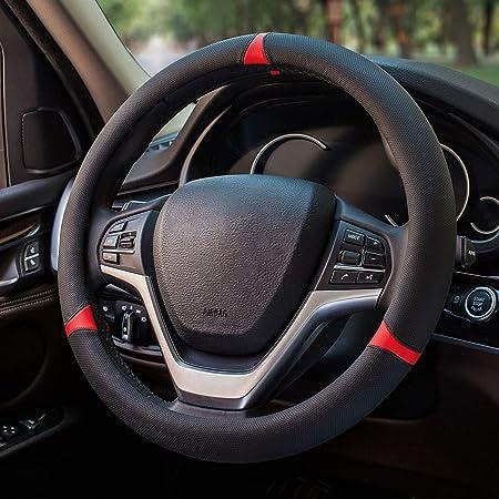 Cnymany Direct Black Silikon Auto Lenkradabdeckung 13 15 Mit 4 Stück Entlüftungshaken Auto