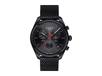 Tissot PR 100 Chronograph T1014173305100 (Silver/Black) Watches