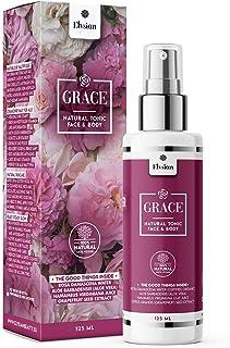 GRACE • BIO Face & Body Tonic/Toner/Gesichtswasser 100% Natur! Premiumqualität aus Rosenwasser, Aloe Vera, Hamamelis, Citrus Grandis, vegan, ohne Alkohol & Zusatzstoffe, für reine und straffe Haut