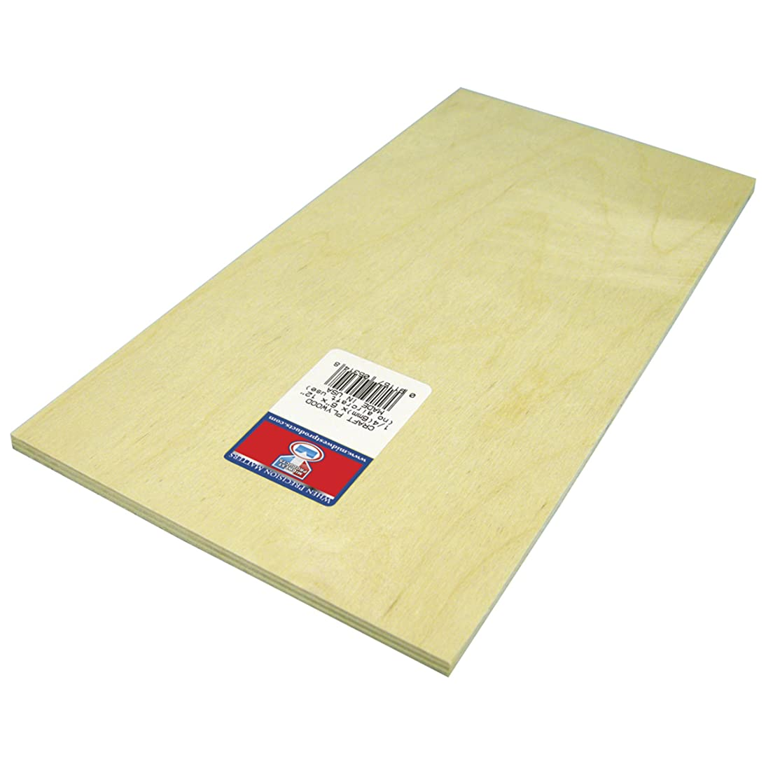 Midwest Products 5314 Craft Plywood Sheet, 6 x 12 x 0.25 Inches
