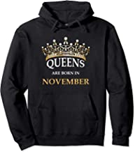 Queens Are Born In November - Cute Girls Birthday Gift Pullover Hoodie