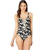Derek Lam 10 Crosby - Lace-Up Front One-Piece