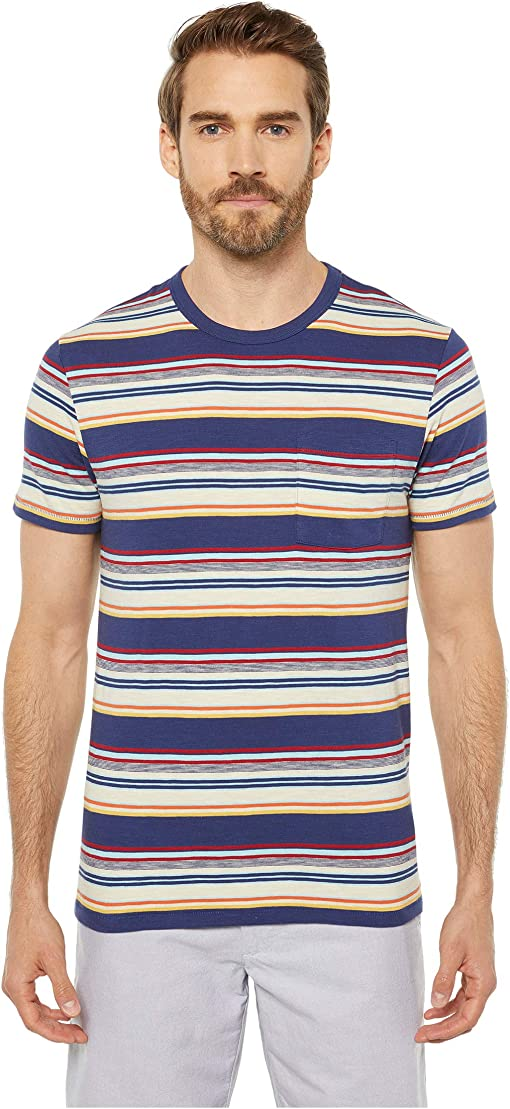 Multi Navy Horizon Stripe