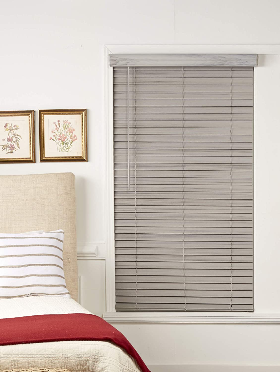DEZ Furnishings QJDG486480 Cordless Max Ranking TOP7 49% OFF 2-Inch Wood 48.7 Faux Blind