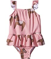 mini rodini - Horse Skirt Swimsuit (Infant/Toddler/Little Kids/Big Kids)