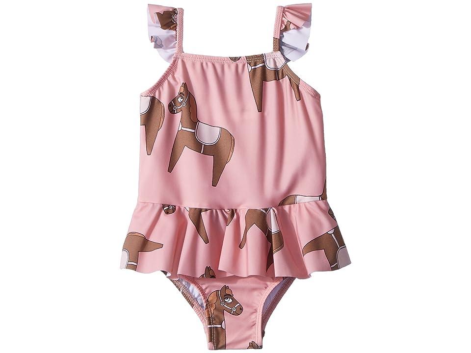 mini rodini Horse Skirt Swimsuit (Infant/Toddler/Little Kids/Big Kids) (Pink) Girl