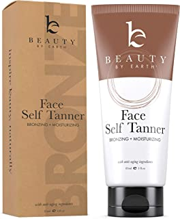 Self Tanner for Face – Face Tanner With Organic Aloe Vera & Shea Butter, Sunless Tanning Lotion and Bronzer Buildable Ligh...