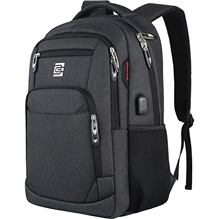 Laptop Backpack Outdoor Camping/&Fits Up to 16-inch Notebook,Dark-Grey Laptop Bag with USB Charging Port Anti Theft Water Resistant College School Bookbag Slim Business Backpack for Men /& Women