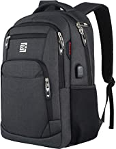 Laptop Backpack,Business Travel Anti Theft Slim Durable Laptops Backpack with USB Charging Port,Water Resistant College Sc...