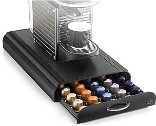 CEP Take a Break - Range-dosettes sous cafetière compatible Nespresso et Special. T - Plastique - Noir - 23,4 x 40,5 x 6 cm