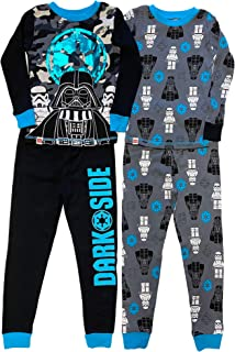 Star Wars Yoda Boys Merry Side Christmas Holiday 2 pc Pajama Set Sizes 4-12