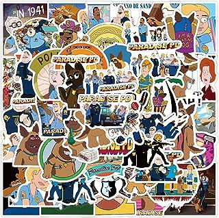 American Cartoon Stickers Paradise PD Stickers| 50 Pcak | Vinyl Waterproof Stickers for Laptop,Bumper,Water Bottles,Comput...