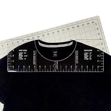 T-Shirt Ruler Guide -Vinyl T-Shirt Ruler Guide - Sublimation Designs on T-shirt- Vinyl Ruler Guide Size Chart - T-Shirt Ruler guide for Vinyl and Sublimation - T-shirt Alignment Guide