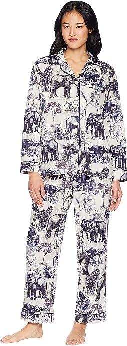 Safari Blue Luxe Pima Pajama Set