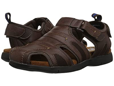 Nunn Bush Rio Grande Fisherman Closed Toe Sandal (Brown 1) Men