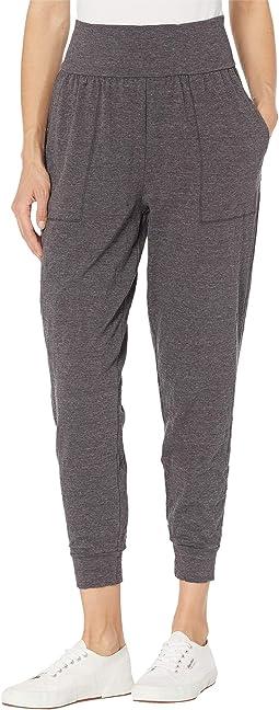 Cozy Slub Jersey Shirred Comfy Pants