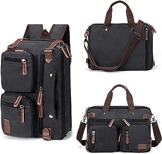 Fresion Umhängetaschen Herren, Laptoptasche oder Schultasche - Canvas Vintage Umhängetasche wandelbar in einen Rucksack,1...