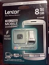 Lexar High Speed MicroSDHC 8 GB Class 6 Flash Memory Card with Reader