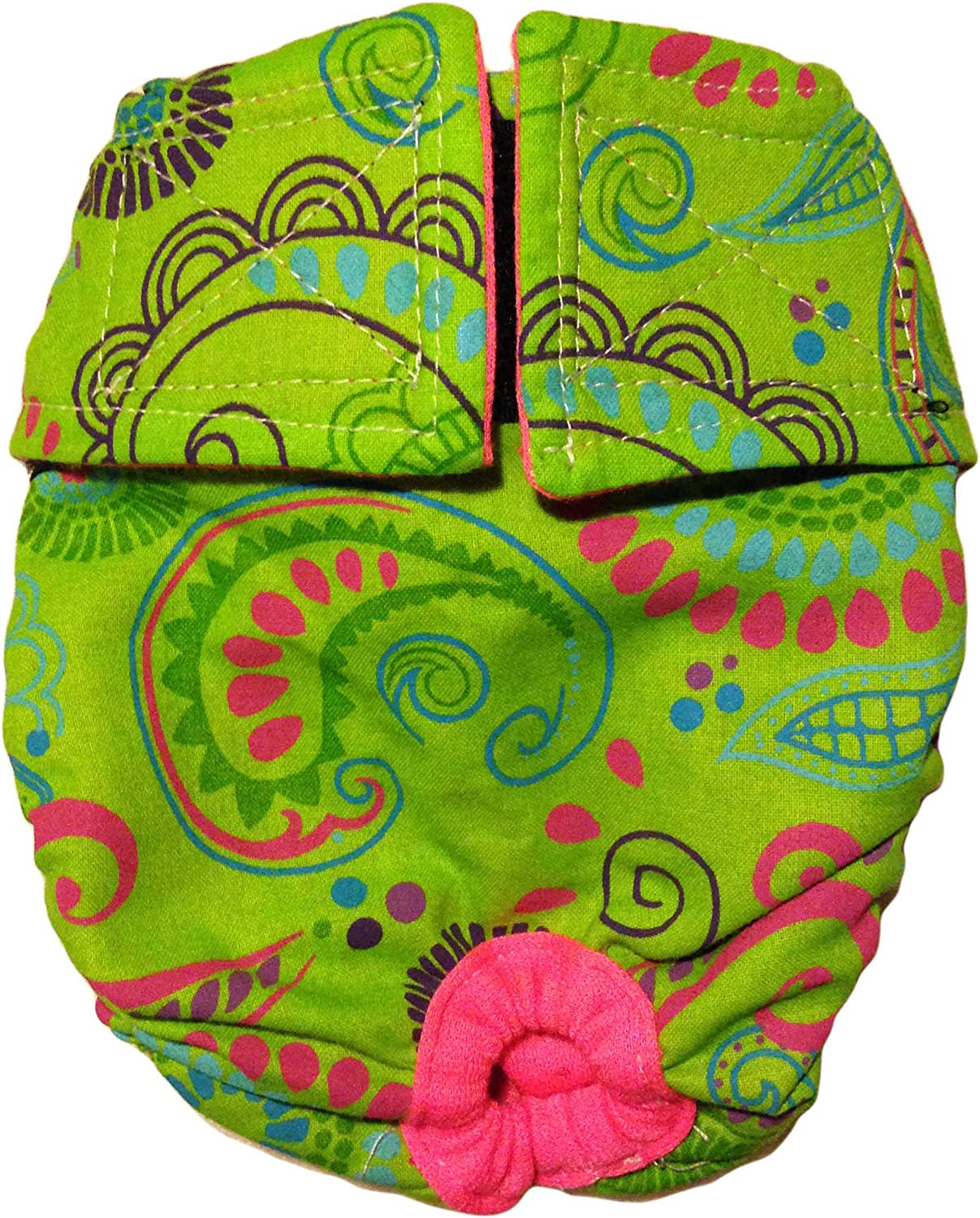 Barkerwear Dog Diapers - Made in Oklahoma Max 46% OFF City Mall Washable Lime Paisley USA