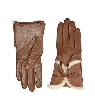 UGG Combo Sheepskin Trim Gloves (Chestnut) Extreme Cold Weather Gloves