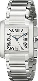 Men's W51002Q3 Tank Francaise Stainless Steel Automatic Watch