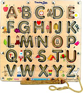 MFM TOYS Trace-The-Letter Game English Uppercase Alphabets