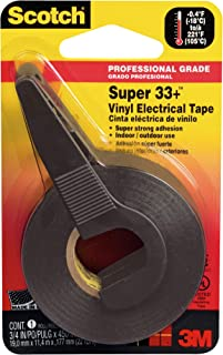 3M Scotch Super 33 Plus Vinyl Electrical Tape, .75-Inch by 450-Inch