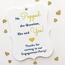 24ct Engagement Party Tags, Favor Hang Tags (EC-081-NG)