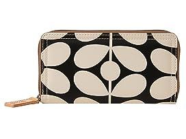 Sixties Stem Nylon Big Zip Wallet